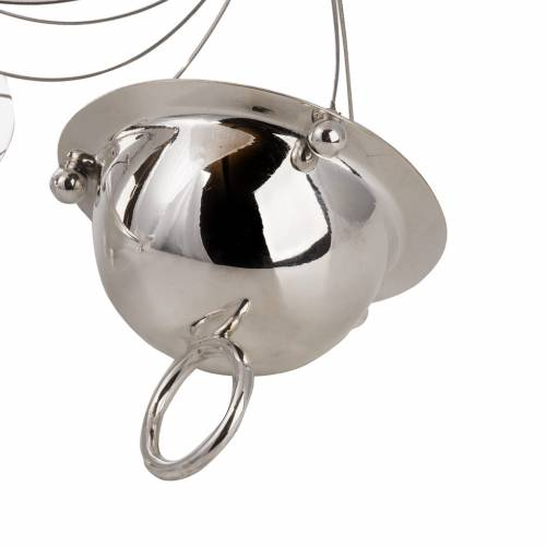 Cone shaped thurible and boat with steel chains s2