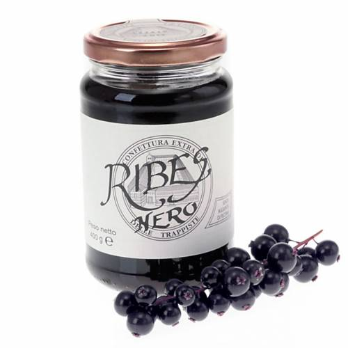 Confiture extra cassis 400 gr Trappistines Vitorchiano s1