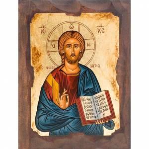 Íconos Pintados Grecia: Ícono Cristo Pantocrátor Griego serigrafiada