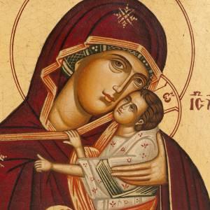 Ícono Madre de Dios de la Ternura pintada Grecia s2