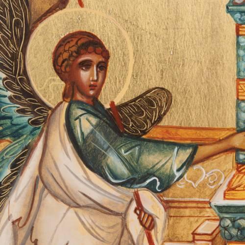Ícono Ruso Pintado Anunciación s2
