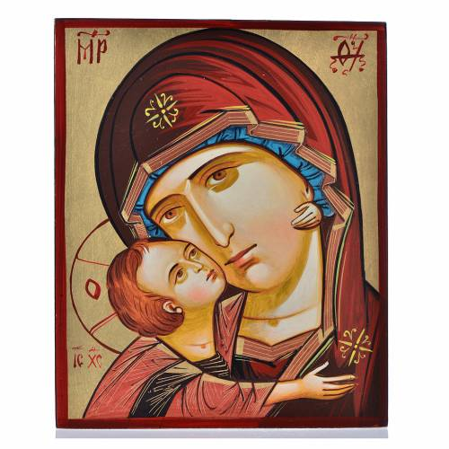 Ícono Virgen de la Ternura 18x22 cm s1