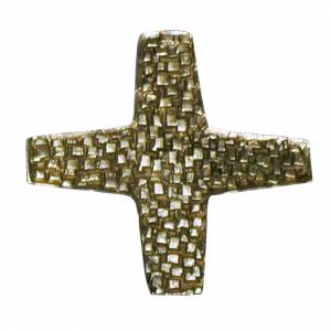 Various Products: Consecration cross in golden cast brass 22x22cm