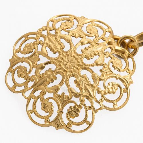 Cope clasp, gold-plated brass, round s2