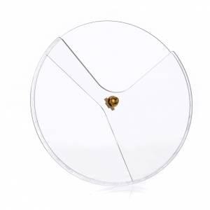Calici Pissidi Patene metallo: Coperchio plexiglass girevole per pissidi diam 14 cm