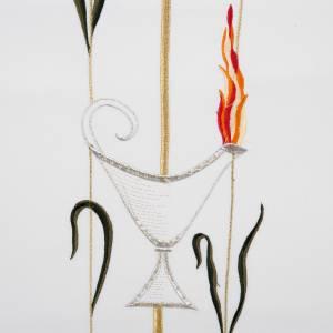 Coprileggio croce lampada uva spighe colori liturgici s3
