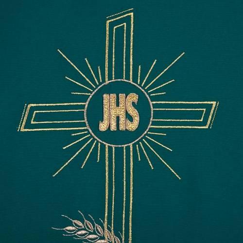 Coprileggio ricami oro spighe croce JHS s7
