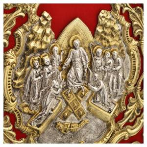 Coprilezionario ottone dorato Gesù Crocifisso s7