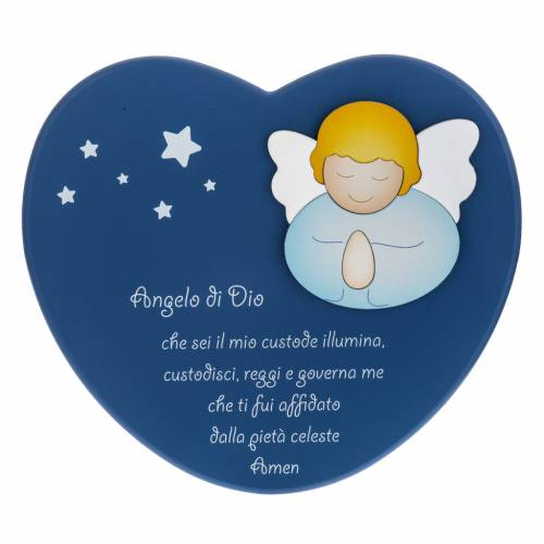 Corazón cántico ángel de Dios azul Azur Lop s1
