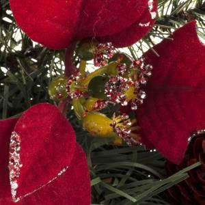 Corona de Navidad con estrella, frutos y ramas s3
