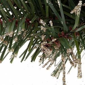 Corona di pino sintetico addobbo Natale s3