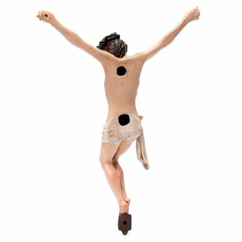 Corpo di Cristo napoletano terracotta occhi di vetro h 45 cm s5