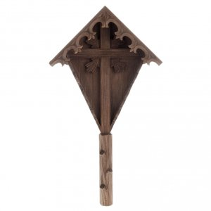 Country cross in spruce wood, Val Gardena s1