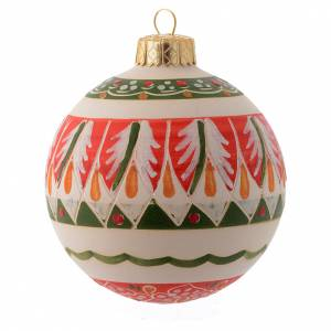Christmas tree ornaments in wood and pvc: Country style terracotta Christmas bauble 80 mm