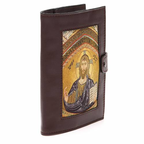 Couv. Lit. Heures 4 vol. cuir brun foncé Christ s4