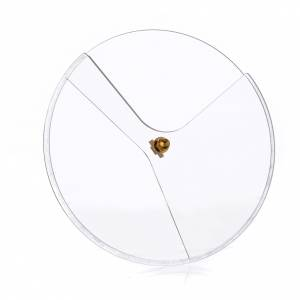 Couvercle plexiglas pivotant pour ciboire diam 14 cm s1