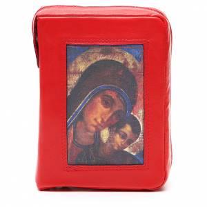 Couverture Bible Jérusalem rouge Vierge Kiko fermeture éclair s1