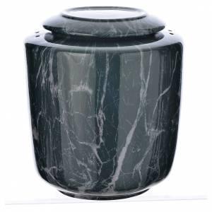 Cremation urn in ceramic Green Alpine model s1