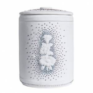 Cremation urn in synthetic marble with Swarovski crystals s4
