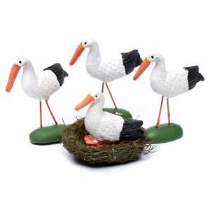 Animals for Nativity Scene: Crib stork in resin 4 cm