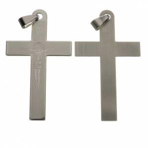 Rosari Fai Da Te: Croce acciaio incisione laser cm 5