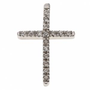 Pendenti, croci, spille, catenelle: Croce argento 925 strass cm 3