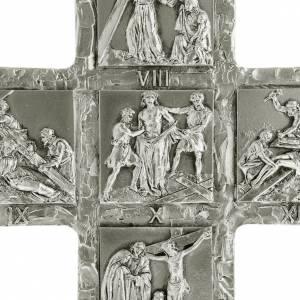 Crocifissi in metallo: Croce argento da tavolo Via Crucis