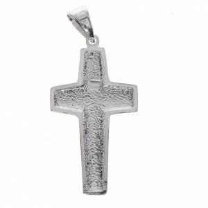 Croce Papa Francesco buon pastore argento 800 s2