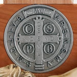 Croce San Benedetto ciliegio naturale 71 cm s5