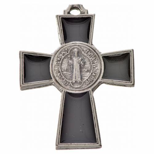 Croce San Benedetto zama 4x3 smalto nero s1