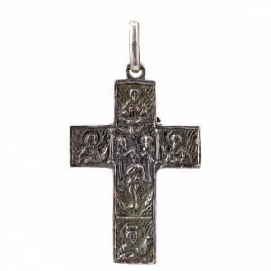Croce slava in argento 925 finitura argentata s2