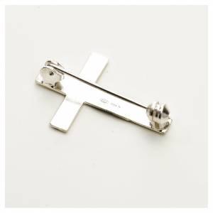 Croce spilla Clergyman argento 800 s2