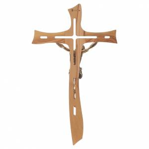 Croce ulivo Cristo resina oro 65 cm s4