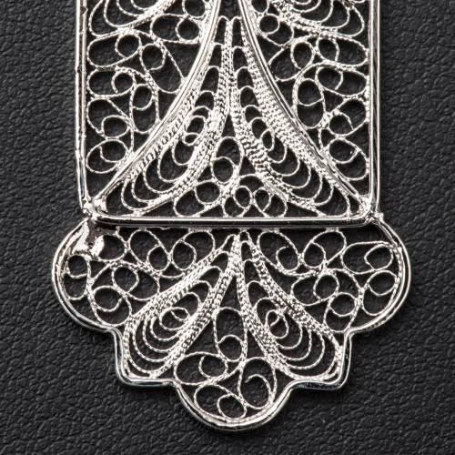 Croce vescovile arg. 800 filigrana s4