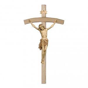 Crocefisso brunito 3 colori Cristo Siena croce curva s1