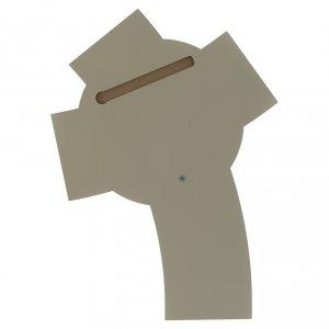 Crocefisso resina e legno intagliato da muro s4