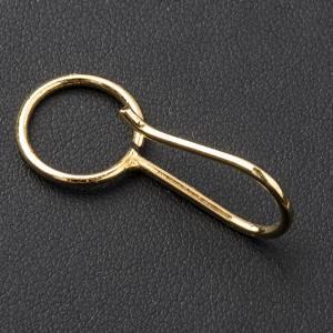 Crochet pour croix pectorale argent doré s2