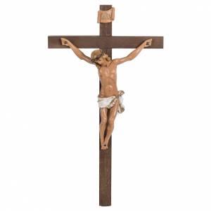 Crocifisso Fontanini croce legno 38x22 corpo pvc s1