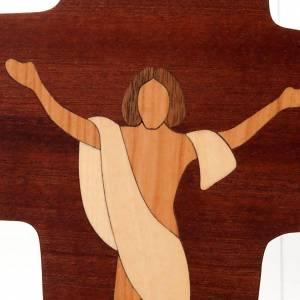 Crocefisso Cristo Risorto legno Azur s2