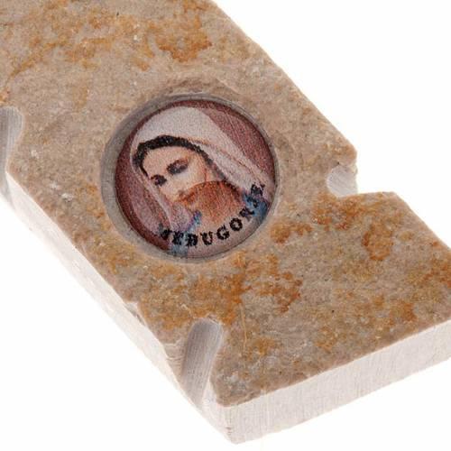 Crocefisso Medjugorje in pietra S. Benedetto 3