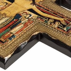 Crocifisso San Damiano legno bordo irregolare s5