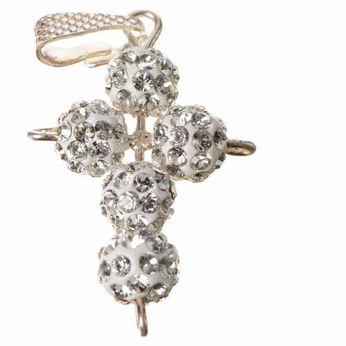 Croix avec perles Swarovski 2,5x1,5 cm s2