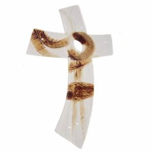Croix blanche stylisée céramique s1