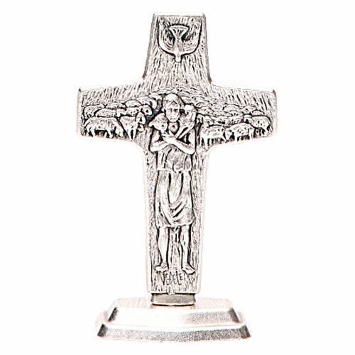 Croix Bon Pasteur de Pape François avec base s1