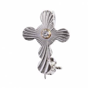 Croix de Clergyman: Croix clergyman mod. sphères argent 800