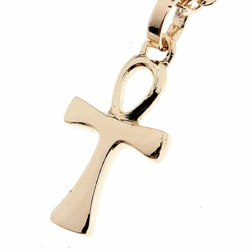 Croix de la Vie collier or 750/00 - 1,30 gr s1
