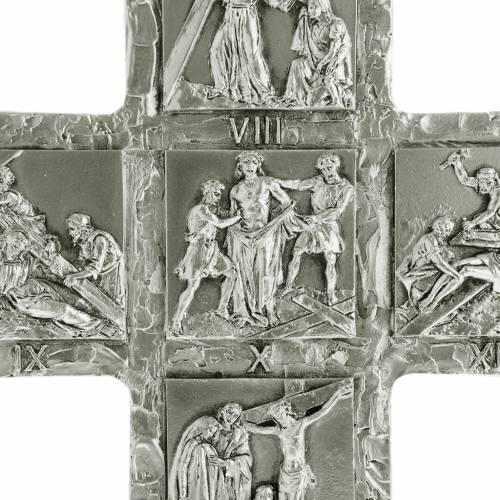 Croix de table argentée chemin de croix s2