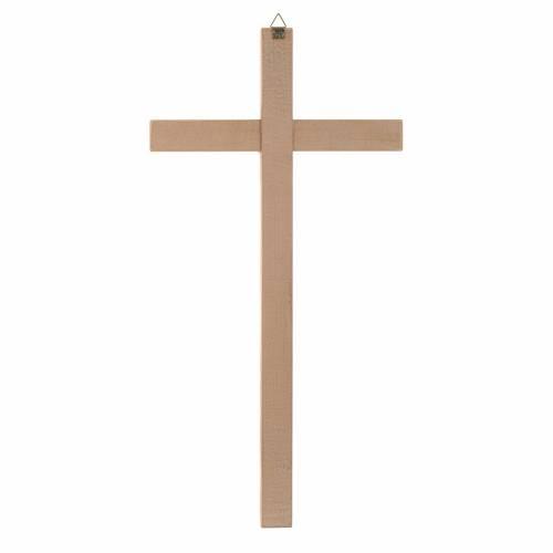 Croix droite, taillée en bois naturel s2