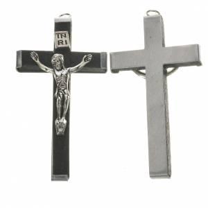 Croix en bois 5,7 cm noir s1