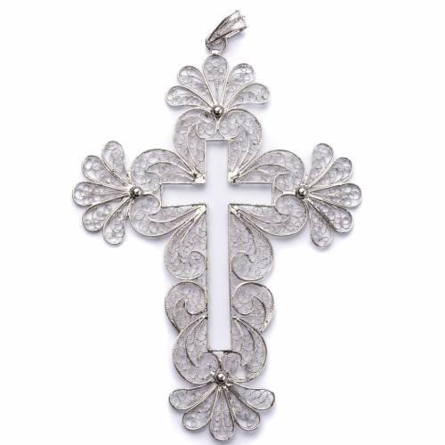 Croix épiscopale en filigrane d'argent 800 s1